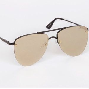 Le specs prince mirrored aviator sunglasses